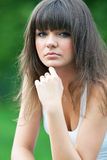 Outdoor portrait of a beautiful girl Royalty Free Stock Photography