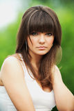 Outdoor portrait of a beautiful girl Stock Photography