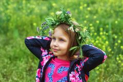 Outdoor portrait of beautiful girl outdoors royalty free stock image