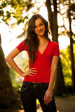 Outdoor portrait of a beautiful hispanic woman Royalty Free Stock Photography