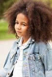 Outdoor portrait of a beautiful little girl Stock Photography