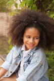 Outdoor portrait of a beautiful little girl Royalty Free Stock Image