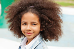 Outdoor portrait of a beautiful little girl Royalty Free Stock Images