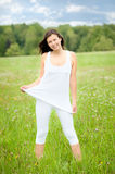 Outdoor portrait of a beautiful woman Stock Photo