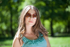 Outdoor Portrait of a Beautiful Woman Royalty Free Stock Photo