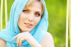 Outdoor portrait of a beautiful woman Royalty Free Stock Images