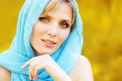 Outdoor portrait of a beautiful woman Royalty Free Stock Photos