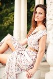 Outdoor portrait of beautiful young woman Royalty Free Stock Photography
