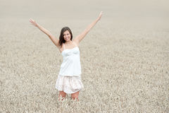 Outdoor portrait of a beautiful young woman Royalty Free Stock Image