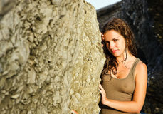 Outdoor portrait of beautiful young woman. Spain Stock Photo