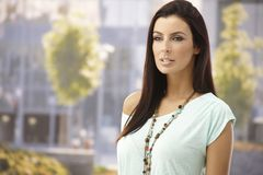 Outdoor portrait of beautiful young woman Royalty Free Stock Images