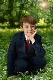 Outdoor portrait of boy going to First Holy Communion Stock Photos
