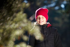 Outdoor portrait of cheerful little girl Royalty Free Stock Photography
