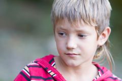 Outdoor portrait of child boy Stock Image