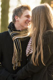 Outdoor portrait of  couple smiling Royalty Free Stock Photos