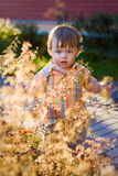 Outdoor portrait of cute baby boy Royalty Free Stock Photo