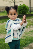 Outdoor portrait of a cute baby girl Stock Images