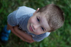 Outdoor portrait of cute boy Stock Images