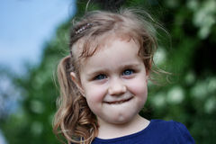 Outdoor portrait of cute girl. Portrait of cute girl outdoor Royalty Free Stock Photo