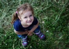 Outdoor portrait of cute girl Stock Photos
