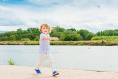 Outdoor portrait of a cute little boy Royalty Free Stock Photography