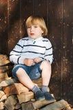 Outdoor portrait of a cute little boy Stock Photo