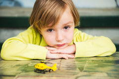 Outdoor portrait of a cute little boy Stock Image