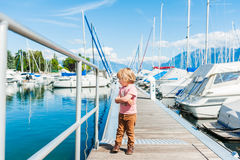 Outdoor portrait of a cute little boy Stock Photography