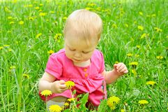 Outdoor portrait of a cute little girl Stock Image