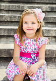 Outdoor portrait  of cute little girl Stock Images