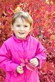 Outdoor portrait cute little girl stock photos