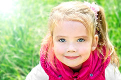 Outdoor portrait of cute little girl Royalty Free Stock Photos