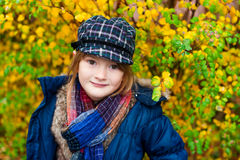 Outdoor portrait of a cute little girl Royalty Free Stock Image