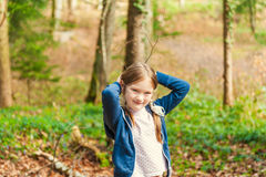Outdoor portrait of a cute little girl Royalty Free Stock Images
