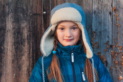 Outdoor portrait of a cute little girl Stock Photo