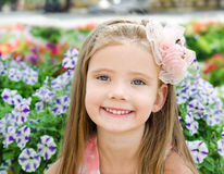 Outdoor portrait of cute little girl Royalty Free Stock Image