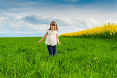 Outdoor portrait of a cute little girl Stock Photography