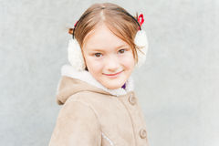 Outdoor portrait of a cute little girl Royalty Free Stock Photos