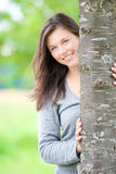 Outdoor portrait of a cute teen stock photography