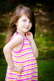 Outdoor portrait of cute young girl Royalty Free Stock Image