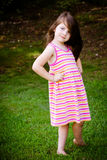 Outdoor portrait of cute young girl Royalty Free Stock Photos