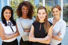 Outdoor Portrait Of Female Multi-Cultural Business Team Royalty Free Stock Image