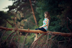 Outdoor portrait of girl Royalty Free Stock Photography