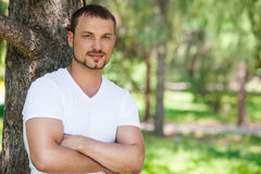 Outdoor portrait of a good looking young man Royalty Free Stock Photos