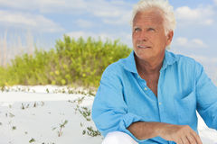 Outdoor Portrait of Handsome Senior Man Royalty Free Stock Image