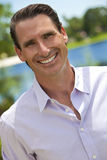 Outdoor Portrait of Handsome Smiling Man Royalty Free Stock Photography