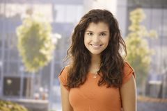 Outdoor portrait of happy girl Stock Photo