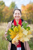 Outdoor portrait of  happy mature woman Royalty Free Stock Images