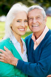 Outdoor Portrait Of Happy Senior Couple Royalty Free Stock Image