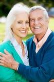 Outdoor Portrait Of Happy Senior Couple Royalty Free Stock Image